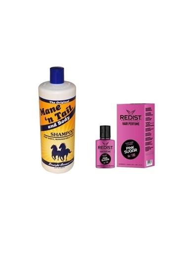 Mane'N Tail Mane'n Tail At Kuyruğu şampuanı 946 ml+Pink Sugar No:180 Saç Parfümü 50 ml Renksiz